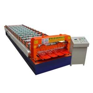PLC Controlled Automatic Trapezoid Metal Roof IBR Sheet Roll Forming Machine