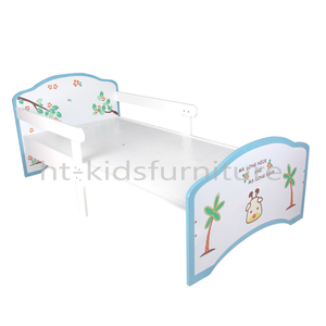 198x98x60/80cm E1 MDF Easy Assembly Boys Single Bed, Giraffe And Pawtree Kids Furniture