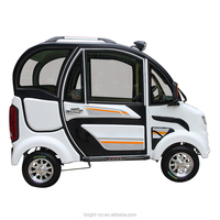 2019 factory enclosed four wheel scooter/4 wheel electric car for adult for 3 persons