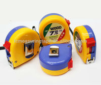 Cheap design abs measuring tape yuyao city Promotional 3M 5M 7.5M 8M 10M rubber case tape measure