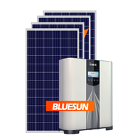 Bluesun Easy install bestsun solar energy 5000w hybrid solar system 5 kw with battery backup