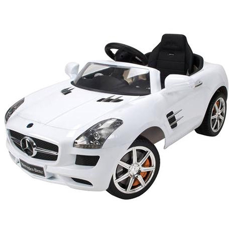 Licensed Mercedes Benz SLS AMG 12V Kids Battery Powered Ride On Car - White