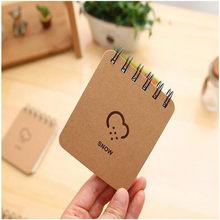 YOUE SHONE 1 шт Погодный прогноз серия катушка портативный ноутбук ветер и дождь молния книга корейский Канцтовары книга(Китай)