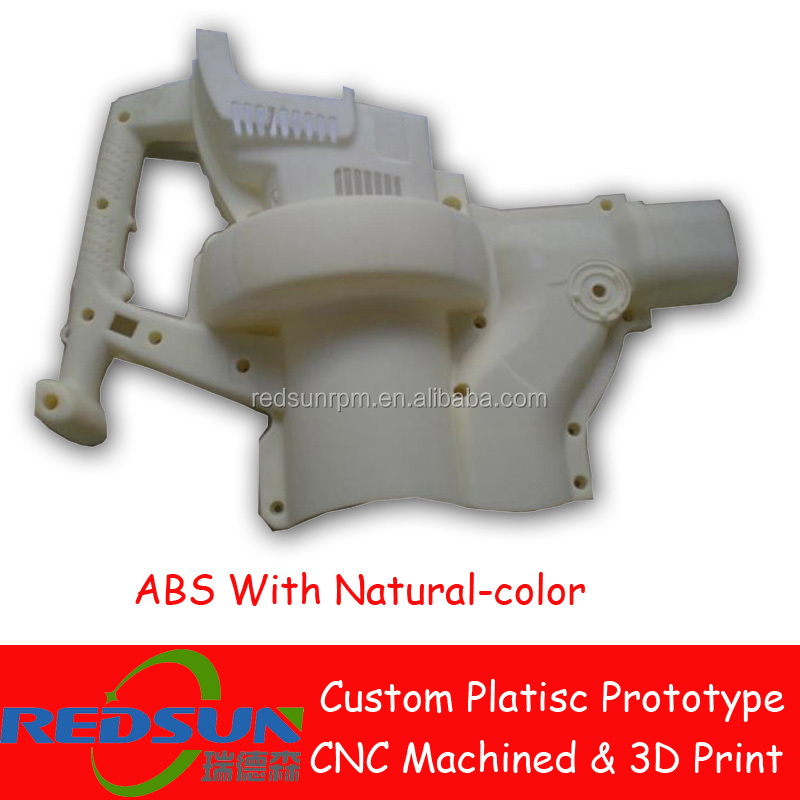 SLA 3D Printing CNC machined plastic part