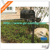 customized iron casting standing mailbox