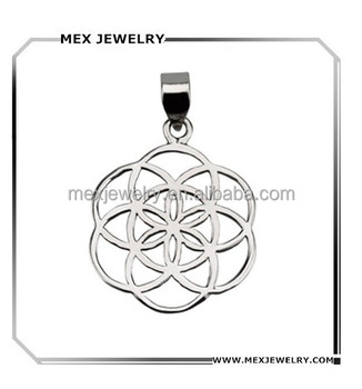 Sterling Silver 925 Classic Seed Of Life Sacred Geometry Flower Of Life  Pendant - Buy Flower Of Life Pendant,Seed Of Life Pendant,Sacred Geometry