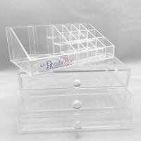 clear plastic acrylic makeup drawer box display