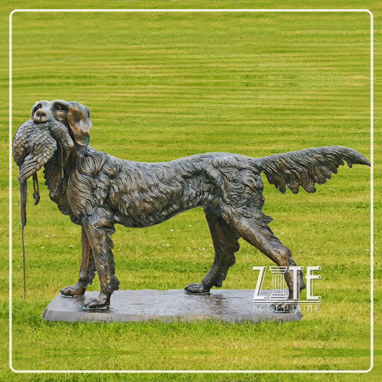 Modern Decoration miniature bronze dog sculptures
