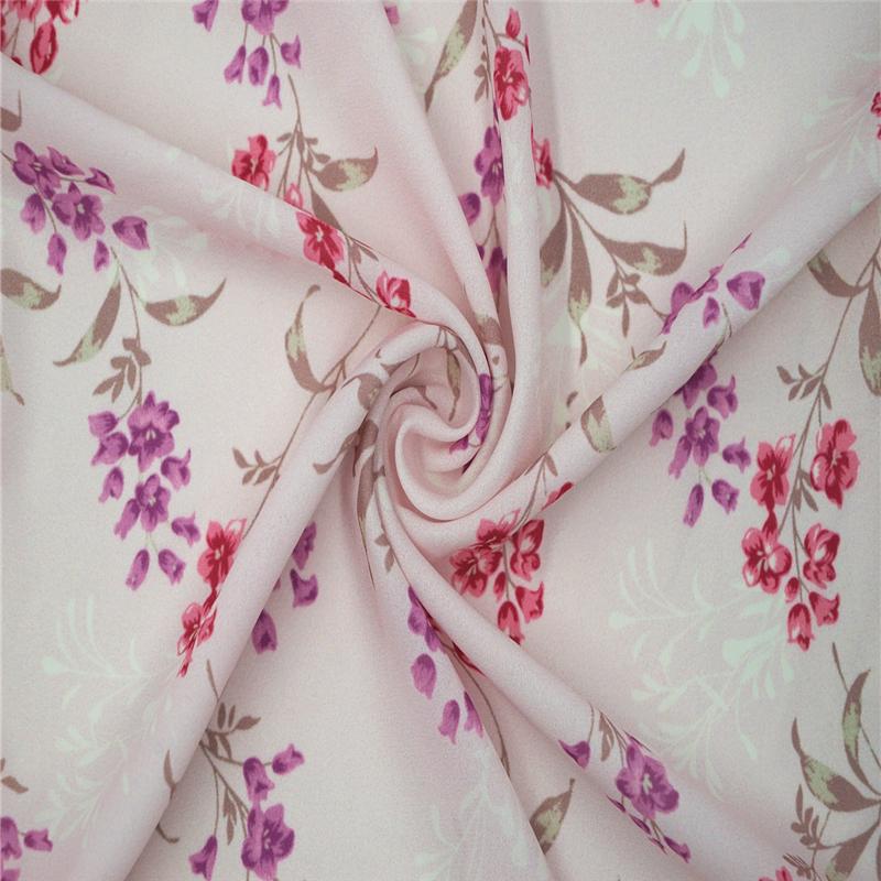 Giá rẻ cao twist polyester voan in vải