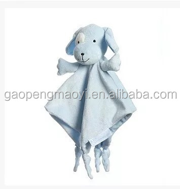 High quality plush sheep animal baby blanket organic China baby security blanket with animal toy