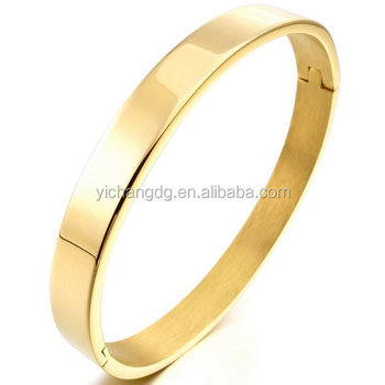 333152ee3a8 Fashion Jewelry 8mm Stainless Steel Gold Bracelet Bangle Cuff Men,Women's