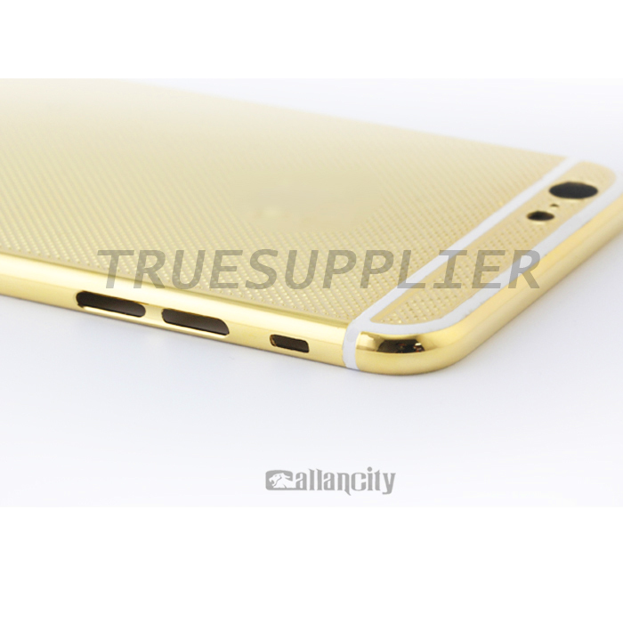 Mobile Phone gold grid housing For iPhone6/6 plus