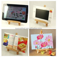 Mini Wooden Tripod Artist Easel for Painting Sketch Drawing Stand for Tablet PC Large Size Screen Cellphone