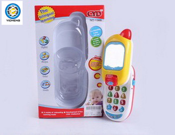 plastic baby cell phone toy musical mobile toys