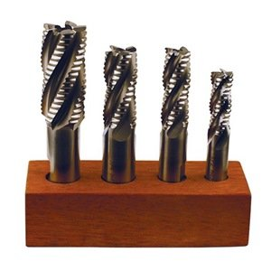 """TTC PRODUCTION 4 Piece M42 Cobalt Coarse Tooth Roughing Single End Mill Set - Tool Material: M42 cobalt Size: 1/2"""" x 1/2"""", 5/8"""" x 5/8"""", 3/4"""" x 3/4"""", 1"""" x 3/4"""" Number of Flutes: Multiple Flute Length: Overall Length:"""