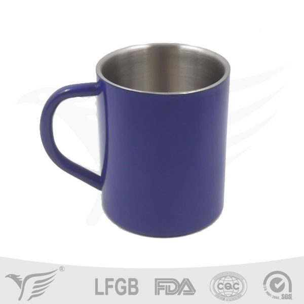 custom insulated stainless steel printed coffee mugs