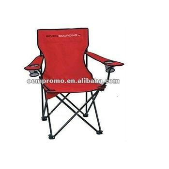 Folding Chair W/ Carry Case, Arm Rest U0026 Cup Holder, Captains Chair