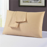 High quality soft textile 400TC cotton jacquard gold satin stripe pillowcase