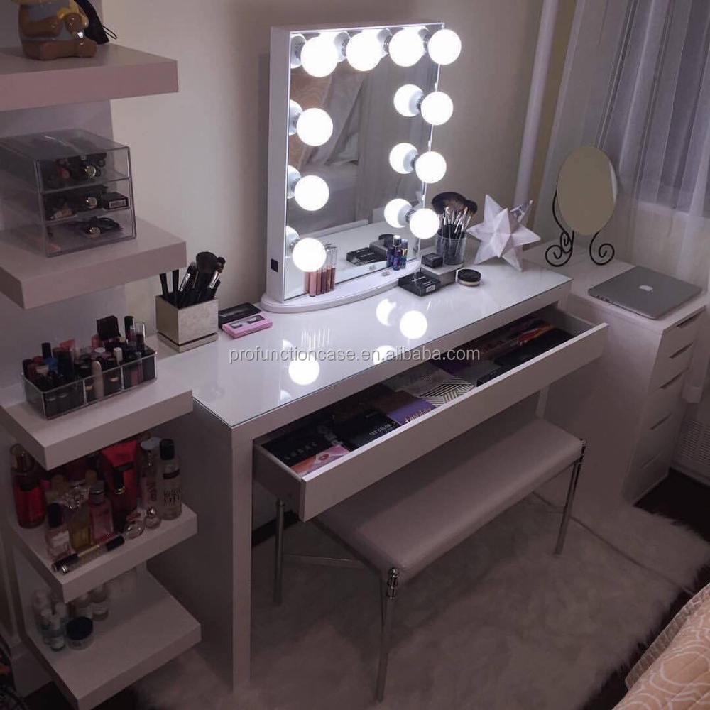 2016 best australian makeup mirror illuminated mirror with bulbs hollywood style lighted makeup. Black Bedroom Furniture Sets. Home Design Ideas