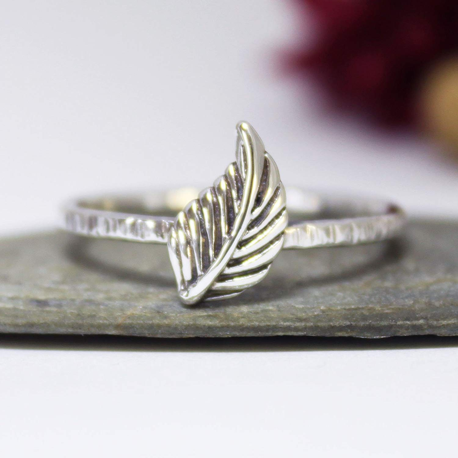 CloseoutWarehouse Oxidized Sterling Silver Double Feather Adjustable Ring