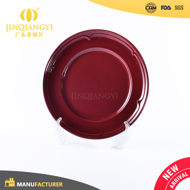 Promotional restaurant hotel terracotta red ceramic stoneware dinner plate  sc 1 st  Alibaba & China Dinner Plates Red Wholesale ?? - Alibaba