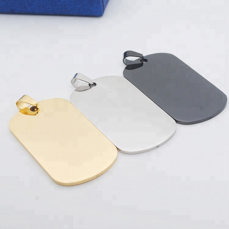 Professionele Aangepaste Vorm Rose Gold Golden Rvs ID Dog Tag