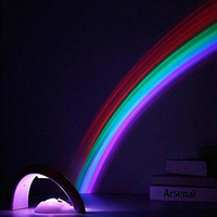 Goldmore 4*AAA Rainbow Projector Decoration Light,ABS Rainbow Projector Night Light,LED Rainbow Night Light For Home Decoration
