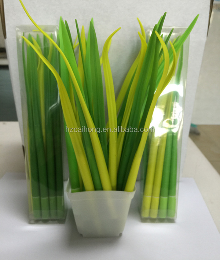 Silicone promotion and grass shaped ballpen CH-6677 Gift Grass shape ball pen Silicone Ball Pen