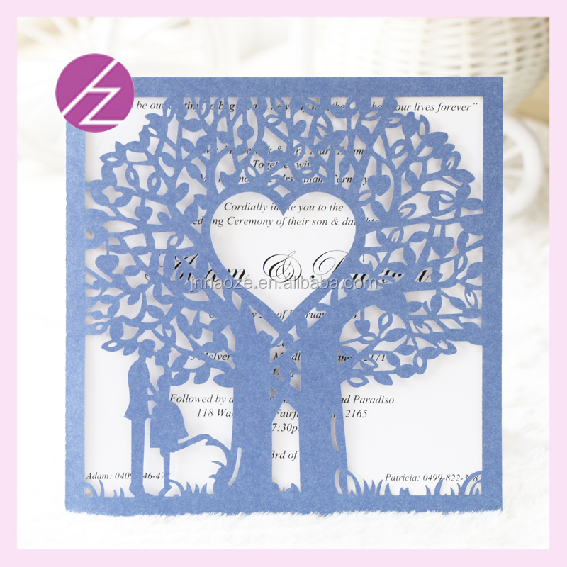 Luxurious Laser Cut Lace Design Wedding Invitation Card