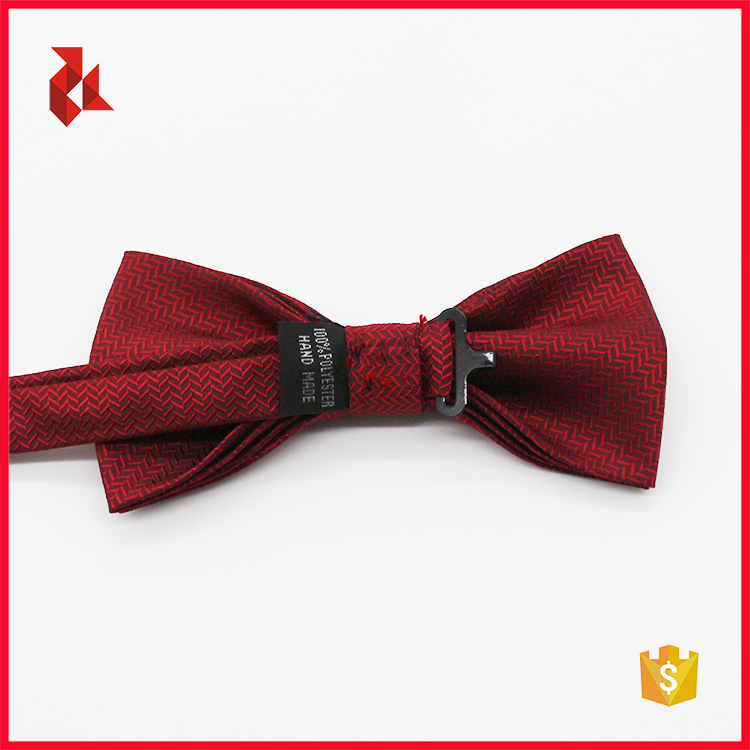 100% Microfiber Red Mens Bow Tie Box