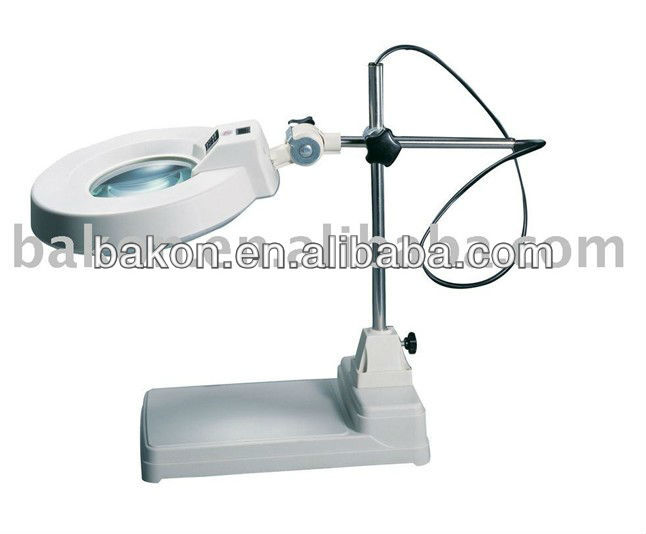 Height adjustable optical high-definition clamp magnifier with lamp/Optical clamps magnifier