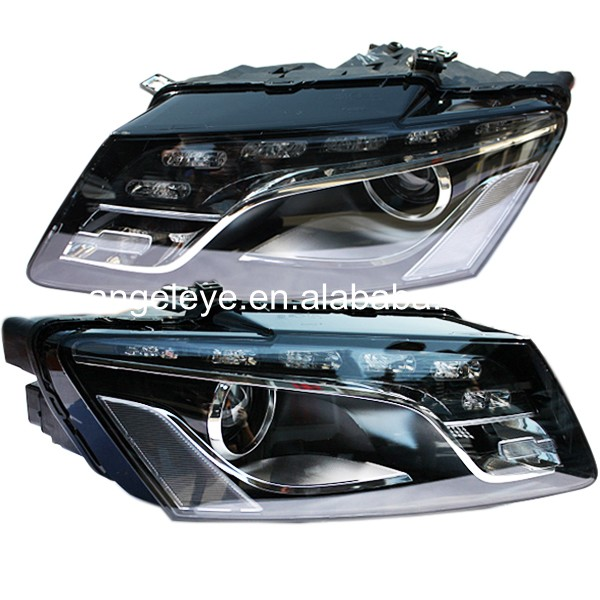 2010-2012 year For Audi Q5 LED Head Lamp with HID Kit for original car with Halogen version