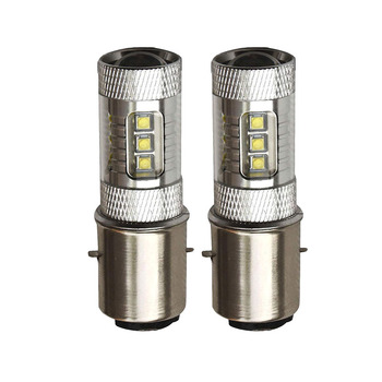 H6/ba20d 80w Type Cree Led Motorcycle Moped Scooter Atv ...