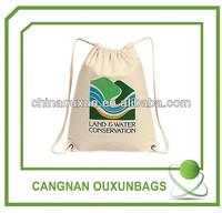 Natural canvas shoe bag