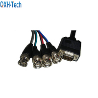 VGA to 5 Golden BNC Monitor Coaxial Cable Adapter