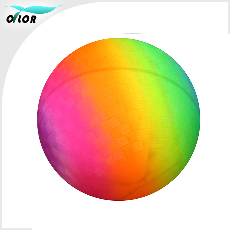 Eco-friendly PVC material rainbow inflatable ball toys playground ball