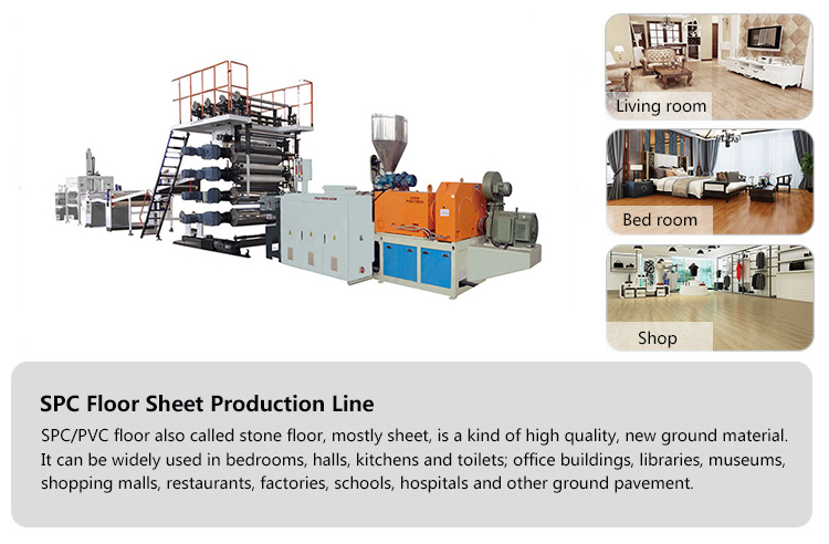 Used For Heating System 100% Waterproof Rigid Wood Grain SPC Vinyl Flooring Machine/Equipment