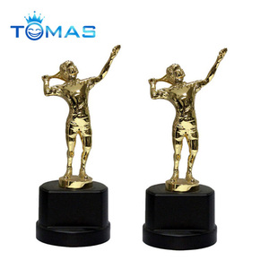 Hot selling custom sport resin tennis trophy