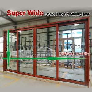 Thermal break power coated front and back doors double glazed sliding door tempered laminated glass