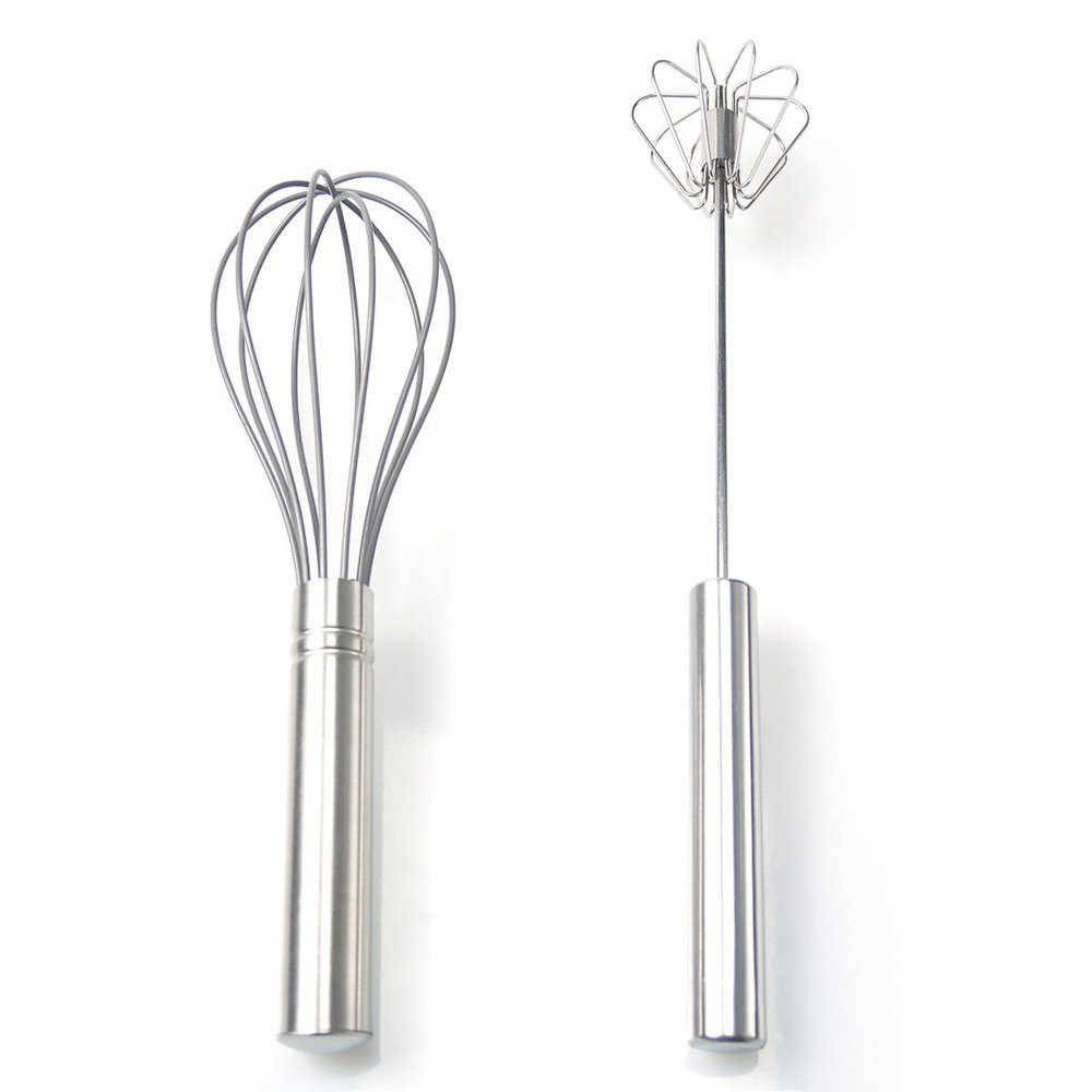 Wire Whisk Flat Egg Beater,Traditional Mini Silicone Egg Whisk ...