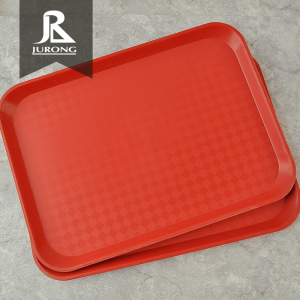 FDA Cheap custom made square serving pp red plastic charger plates wholesale