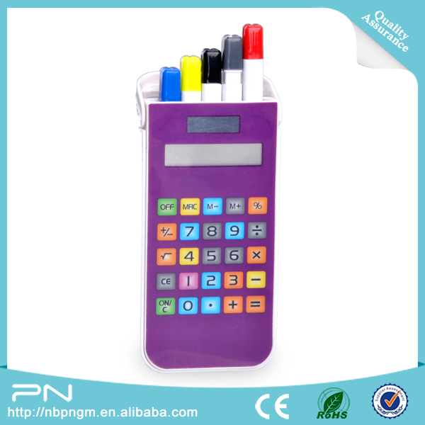 Touch Screen Pencil Case Calculator,Mini Stationery Set for Kids