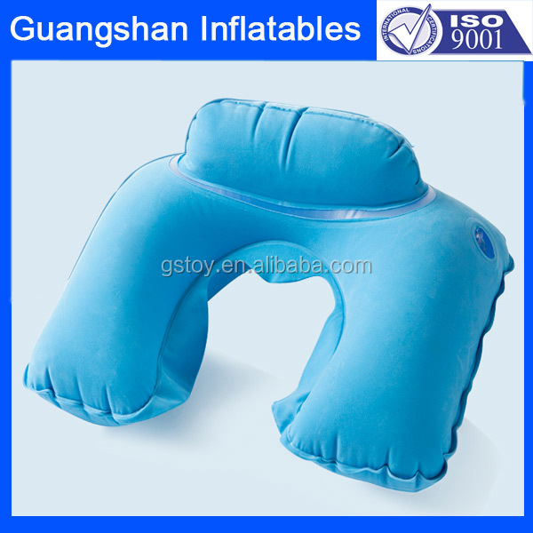 Portable travel accessory inflatable camping neck pillow