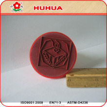 Customized Design Clear Print Round Rubber Stamp for Election and Office
