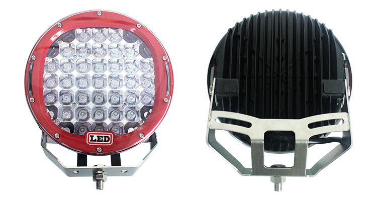 9inch 185w Brightest LED Work Driving Light - Round - 16000lm - Spot Flood - for Truck SUV Off-road Boat Driving Cars Vehicles