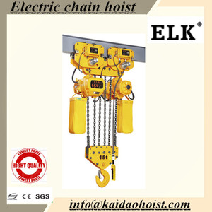 Professional Factory Cheap Wholesale Top Quality light duty crab traveling electric chain hoist from China manufacturer
