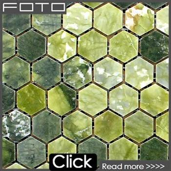 Decorativo De Pared Hexagonal De ónix Verde Mosaico De Baldosas De Piedra Buy Decorativo De La Paredhexágono Onyx Mosaico Decorativo Paredmosaico