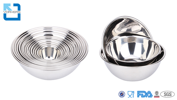 Wholesale Kitchen Metal Thicken Serving Salad Bowls Set Stainless Steel Mixing Bowl