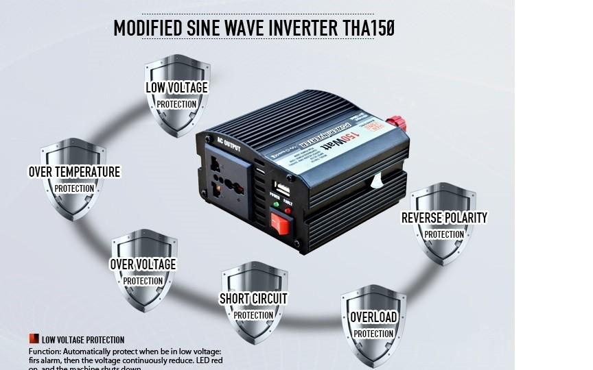 Dc To Ac Inverter Type 220v 50hz 110v 60hz Invertor 150