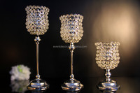 Wedding wine bottle style silver 3 size graceful candle holder for wedding table used